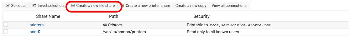 share directory samba webmin