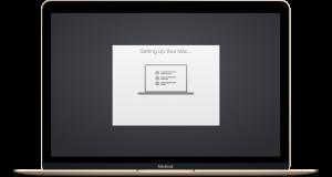 asistente de configuración de Mac OS